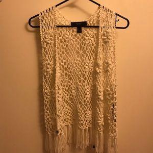 Forever 21 fringe vest